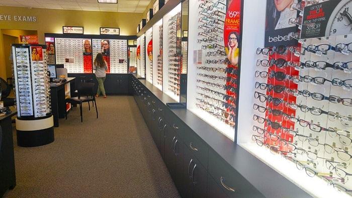 Visionworks - my daughter looking at glasses