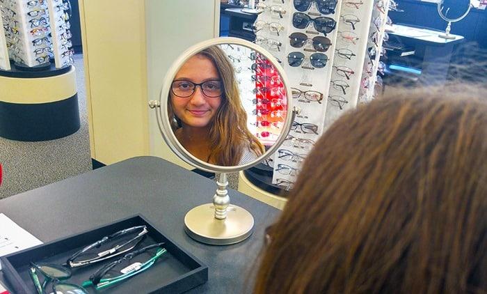 Visionworks - my daughter looking in mirror