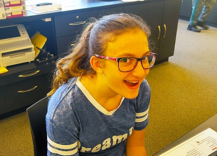 Visionworks - my daughter picking up her new glasses