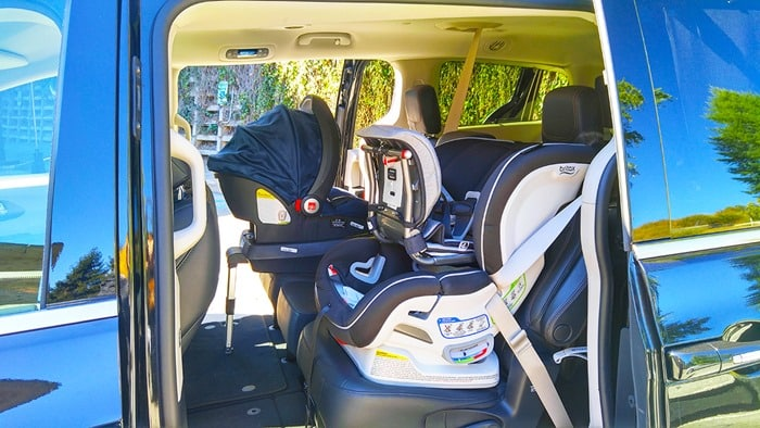 Consumer Reports Ambassadors HQ Tour 2016 - van with child safety seats being tested 2