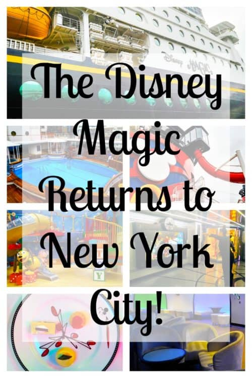 Disney Cruise Line is returning to NYC in 2017! With destinations in the Caribbean, the Bahamas, and Canada, take a taxi to the Disney Magic instead of wasting time on a plane. What could be easier for your family vacation? With plenty to do on board the ship there's something for every member of your family.