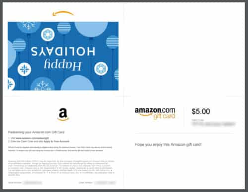 photo regarding Amazon Printable Gift Card titled Past-Moment Xmas Reward Designs Amy At any time Following