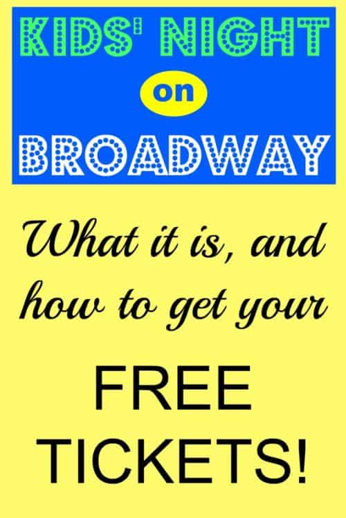Kids' Night On Broadway is an annual ticket sale for a bunch of Broadway shows. You can bring a kid for free when you buy an adult ticket! This is a great way to save money and have a night out with your child. There are some super hot tickets included, like Dear Evan Hansen and A Bronx Tale, Waitress, School of Rock, and many more.