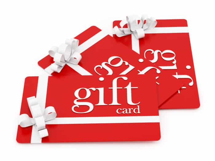 Thoughtful Holiday Gifts for Teachers - gift cards
