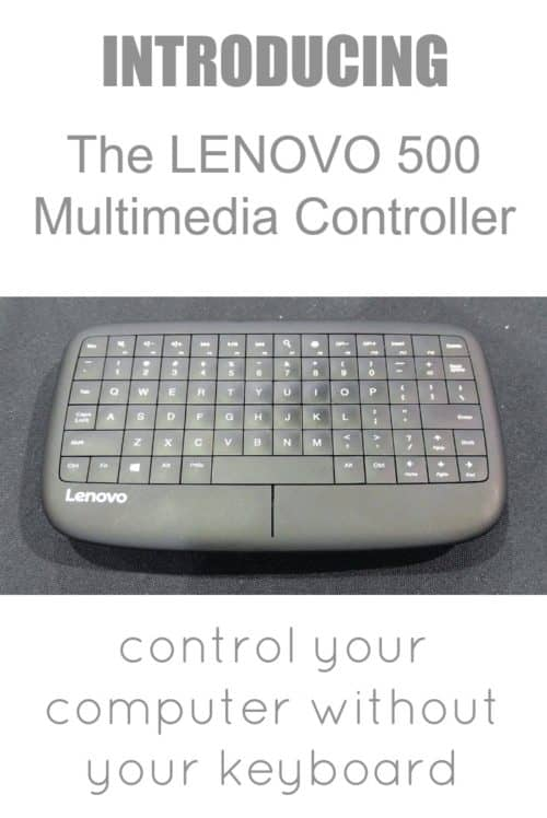 The Lenovo 500 Multimedia Controller is a mini keyboard for your thumbs and a remote control for your computer, and it has the functionality of a mouse! Stop balancing your keyboard on your lap when you're casting to your TV, and use this little handheld keyboard instead.
