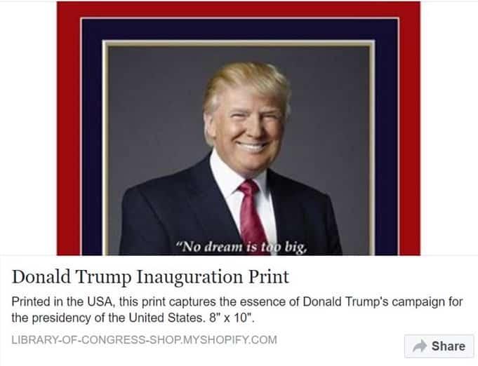 Trump Portrait on Facebook