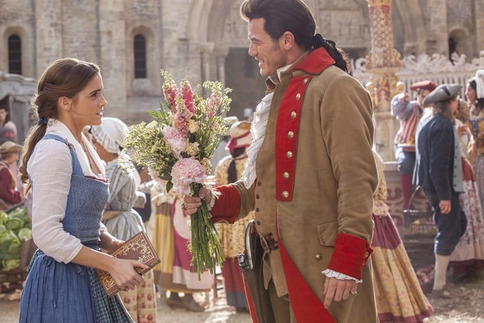 Beauty and the Beast - Gaston giving Belle flowers