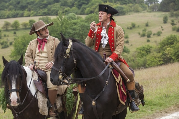 Beauty and the Beast - LeFou and Gaston on horseback