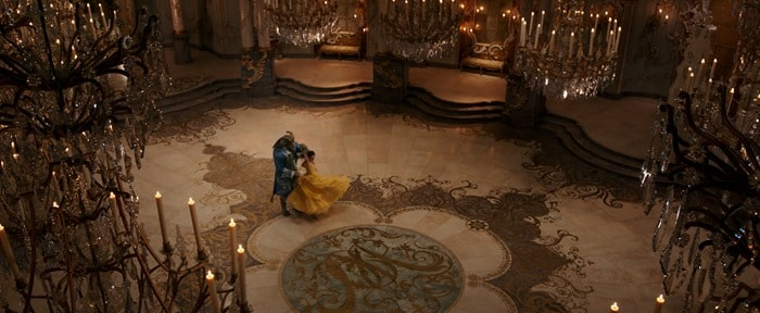 Beauty and the Beast - The Beast and Belle dancing in the ballroom