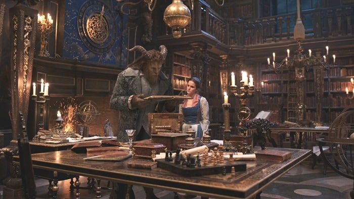 Beauty and the Beast - The Beast and Belle in the library