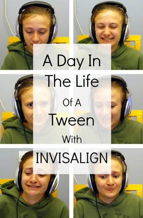 My daughter is on her fourteenth set of Invisalign trays, so wearing them is completely routine to her now. Here's what it's like for her during a typical day.