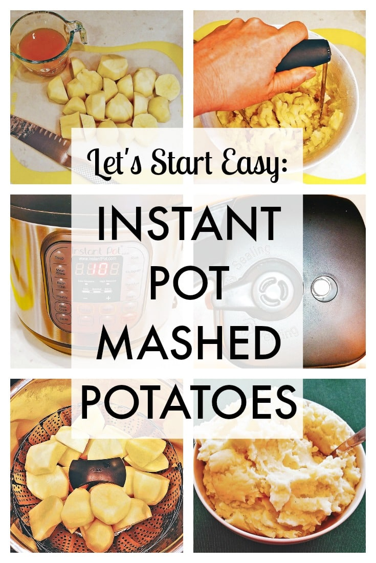 You bought an Instant Pot. You were excited. You took it out of the box, and…you put it back in. You were overwhelmed! So many buttons, so many parts, so many things to learn! But you don't have to learn them all at once. I'll tell you the basics and show you how to make a quick and easy potato side dish, with my Instant Pot mashed potatoes recipe. #InstantPot #potatoes #vegetarian