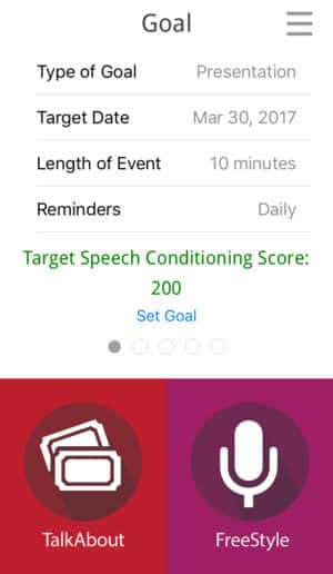 LikeSo Speech App - Goals