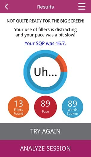 LikeSo Speech App - FreeStyle Results