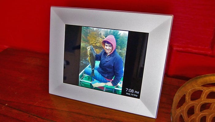 Nixplay Wifi Picture Frame - my son on frame