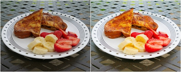 French Toast collage before and after (without BeFunky)