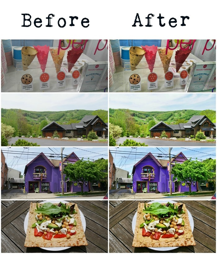 Before and after images using the BeFunky Photo Enhancer