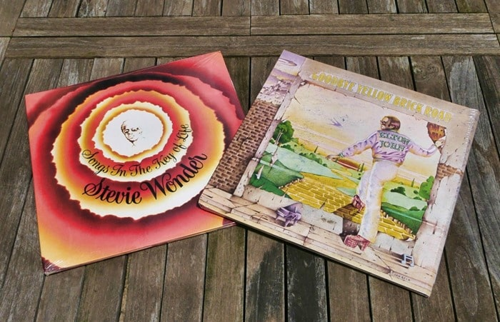 Universal Music Group vinyl albums: Songs in the Key of Life and Goodbye Yellow Brick Road