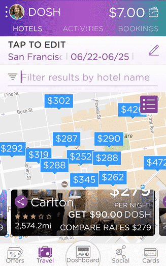 DOSH hotel savings map