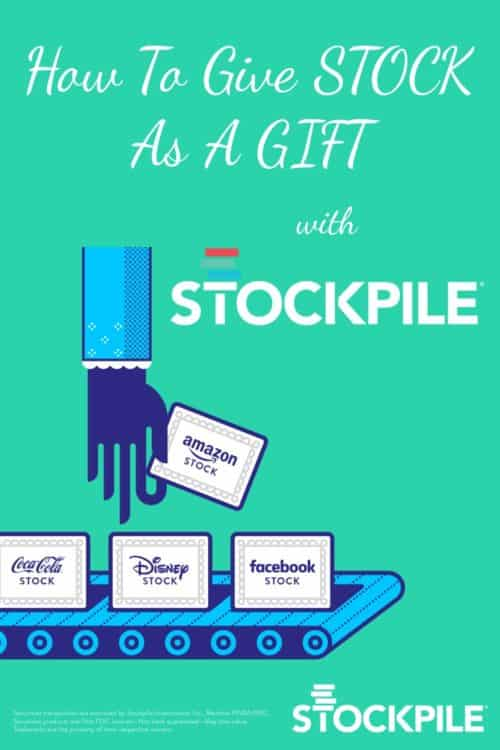 Have you ever wanted to give stock as a gift? It used to be complicated, but Stockpile has made it easy - even if you're giving stock to a child! This makes such a great birthday or graduation present, and is a fun way to introduce someone to investing, with real stock! Read my post to find out how you can buy stock for yourself or someone else, for as little as a dollar, with the ability to buy, sell, and earn dividends.