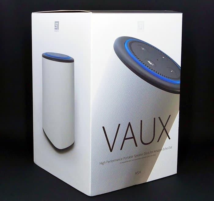 Best Speaker for Echo Dot - the Vaux Cordless Speaker in box 2