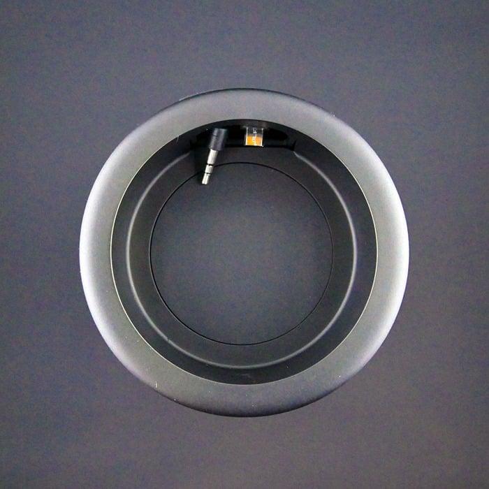 Best Speaker for Echo Dot - the Vaux Cordless Speaker top view