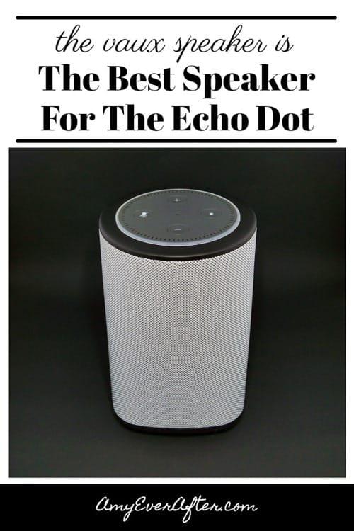 The Vaux Cordless Speaker is The Best Speaker for the Echo Dot - Pinterest image