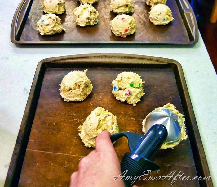 Bake It Happen 2017 - scooping cookie dough
