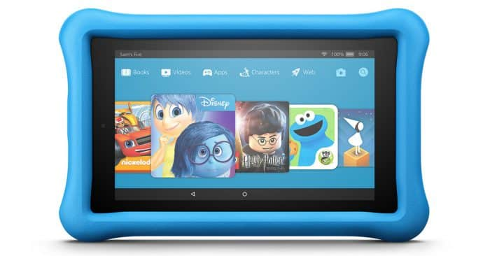 Kindle Fire HD 8 Kids Edition in blue