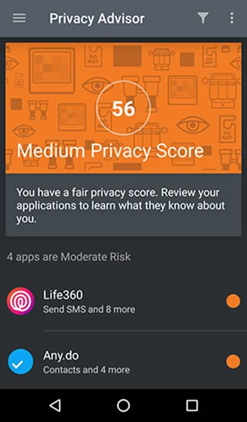 Bitdefender Box 2 - app privacy score