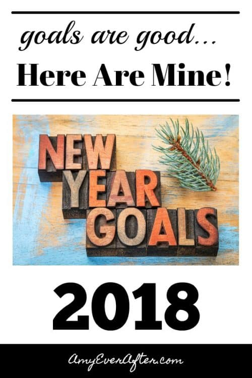 New Year Goals 2018 Pinterest image