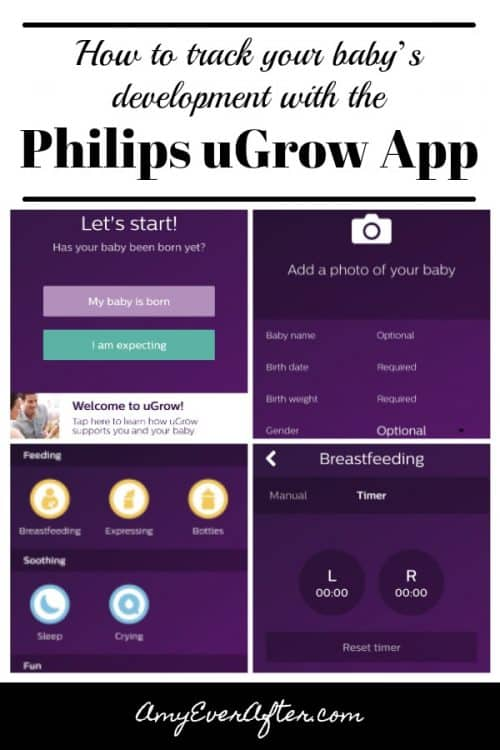 Are you looking for an easy way to track your baby's development? Check out the Philips uGrow app, which does all that and more! You can track everything from sleep times and locations to feedings to temperature and so much more, plus add milestones and pictures!