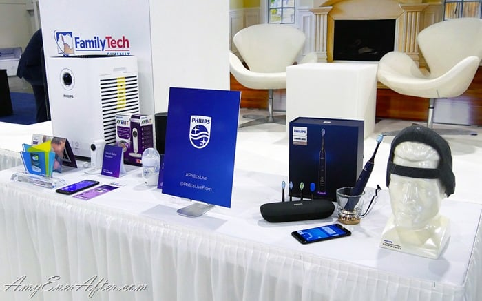 A table full of Philips products at CES