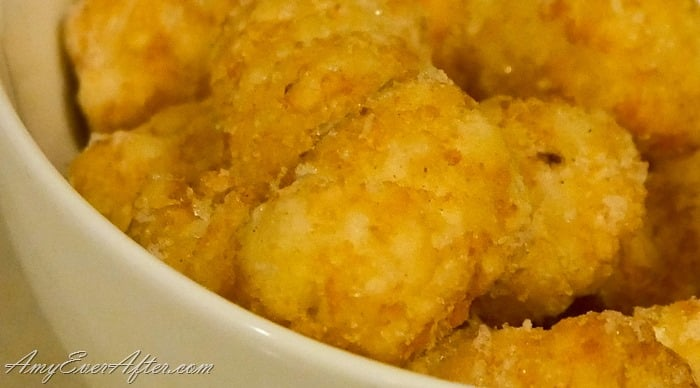 Tater Tot Breakfast Casserole recipe -  close up of delicious tater tots