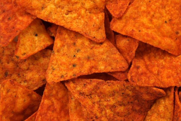 spicy corn chips stock image