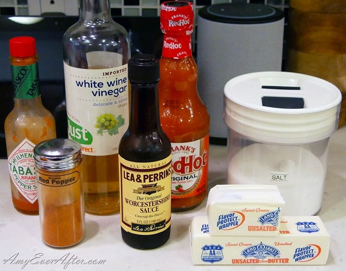 deep-fried Buffalo chicken wings sauce ingredients