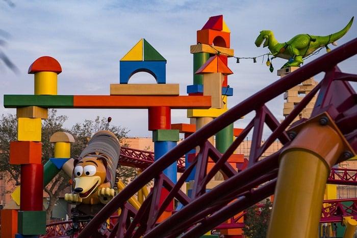The new Slinky Dog Dash ride at Hollywood Studios in Walt Disney World