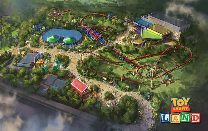 A rendering of the new Toy Story Land at Hollywood Studios in Walt Disney World