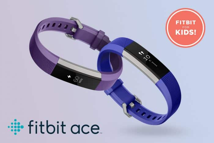 Fitbit Ace - a Fitbit for kids in Power Purple and Electric Blue