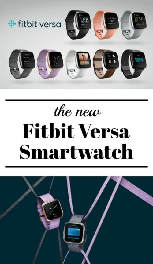 Take a look at the gorgeous new #Fitbit smartwatch, the Versa! It's waterproof to 50 meters, the bands are interchangeable, the design is elegant, and it does everything you want a smartwatch to do plus some things you didn't know a smartwatch could do! You can keep over 300 songs and 3 guided workouts on the watch (no phone needed), track all of your activities, get notifications from your phone, and so much more.