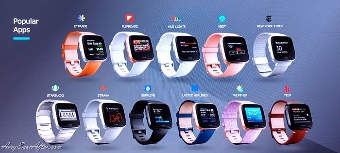 Fitbit Versa - popular apps