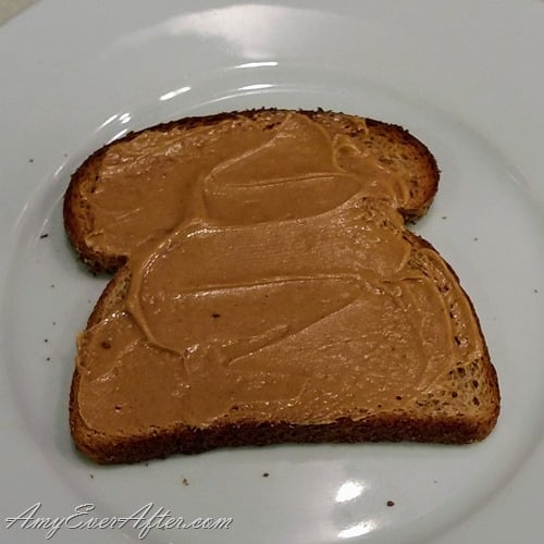 What you can eat on Weight Watchers Freestyle - peanut butter on toast