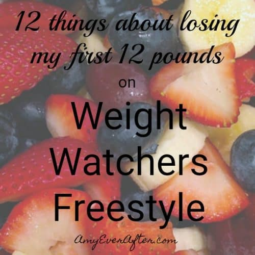 Are you wondering if Weight Watchers Freestyle works? Amy has been on the plan for 7 weeks, and has already lost almost 13 pounds! There are so many zero-points foods, you never have to be hungry, and don't have to count every little thing you eat. Here are 12 things that Amy learned and did while losing those first twelve pounds. #WeightWatchers #WeightWatchersFreestyle #WeightLoss