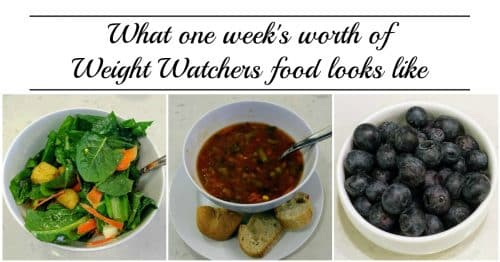 Wondering what you can eat on Weight Watchers? Here's an entire week of what I ate - with pictures and points - while losing more than two pounds!