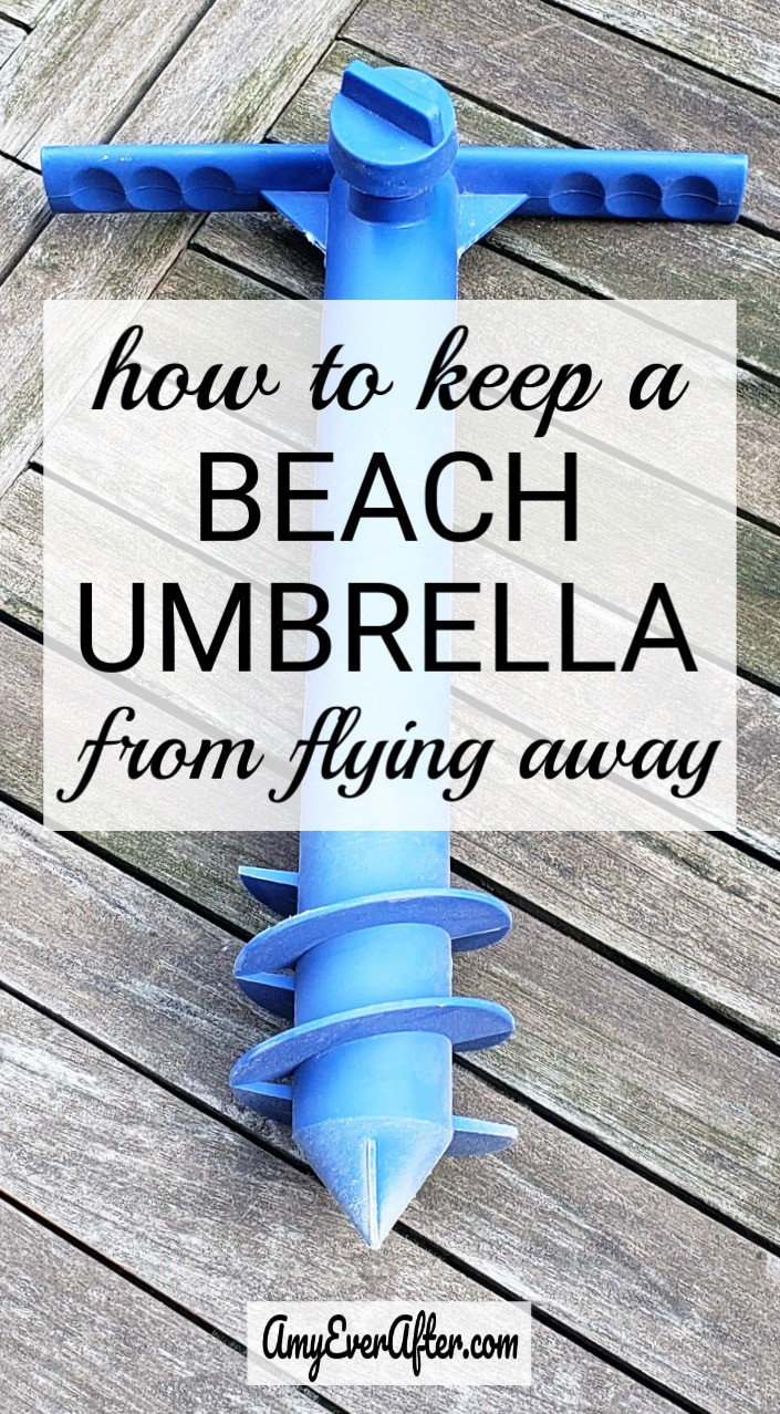 Want to know how to keep a beach umbrella from flying away, and possibly hurting someone? There's a product that will do the job for well under $20! #beach #travel #safety