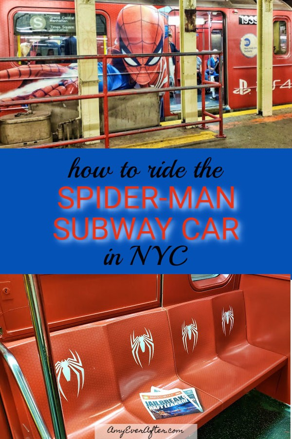Do you have a Spider-Man fan in your life? Here's how to ride the Spider-Man subway car in NYC! It's completely covered—inside and out—in a really cool ad for the upcoming Marvel Spider-Man game from PS4! #SpiderMan #PS4 #NYC #subway