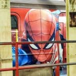 Do you have a Spider-Man fan in your life? Here's how to ride the Spider-Man subway car in NYC! It's completely covered—inside and out—in a really cool ad for the upcoming Marvel Spider-Man game from PS4! #SpiderMan #MarvelSpiderMan #PS4 #NYC