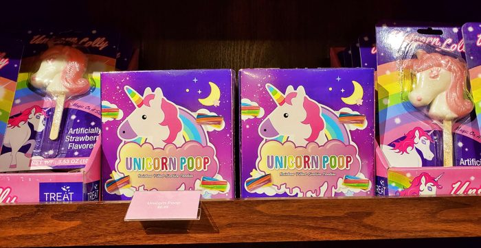 Unicorn Poop candy at the Candytopia gift shop