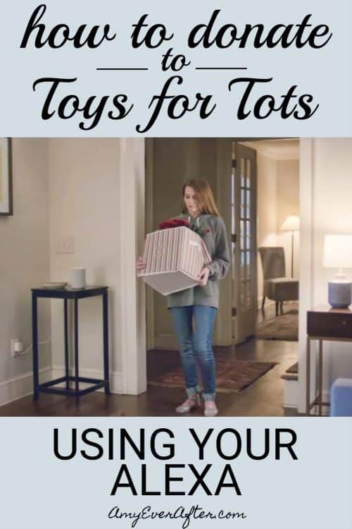 """This year Amazon has made it super easy to donate to the Toys for Tots donation drive by saying just six words to your Echo device: """"Alexa, donate to Toys for Tots."""" #ToysforTots #DeliveringSmiles #charity"""