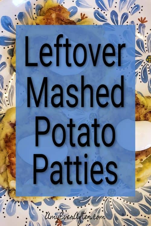 Ever wonder what to make with leftover mashed potatoes? Fry them up into delicious and easy Leftover Mashed Potato Cakes! This quick and easy recipe involves almost no prep, and you get little potato cakes that are fried and crispy on the outside and deliciously soft on the inside. #leftovers #recipe